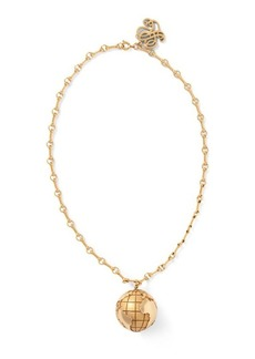 Ralph Lauren Brass Globe Pendant Necklace