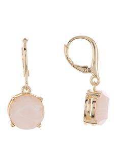 Ralph Lauren Brass Rose Quartz Drop Earrings