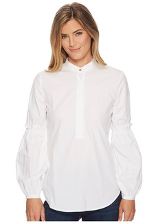 Ralph Lauren Broadcloth Bishop-Sleeve Shirt