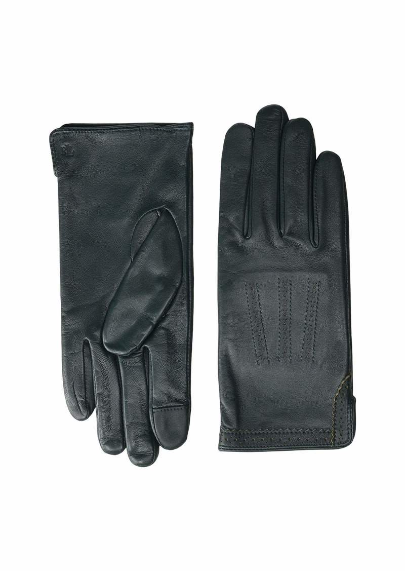 Ralph Lauren Brogue Leather Gloves