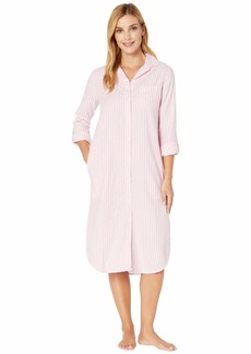 Ralph Lauren Brushed Herringbone Long Sleeve Roll Tab Ballet Sleepshirt