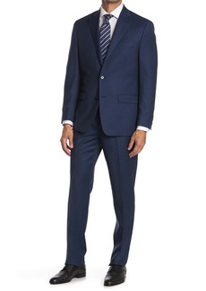 Ralph Lauren Brushed Navy Notch Lapel Wool Suit