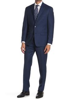 Ralph Lauren Brushed Navy Notch Lapel Wool Suit
