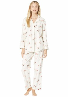 Ralph Lauren Brushed Twill Long Sleeve Classic Notch Collar Pajama Set