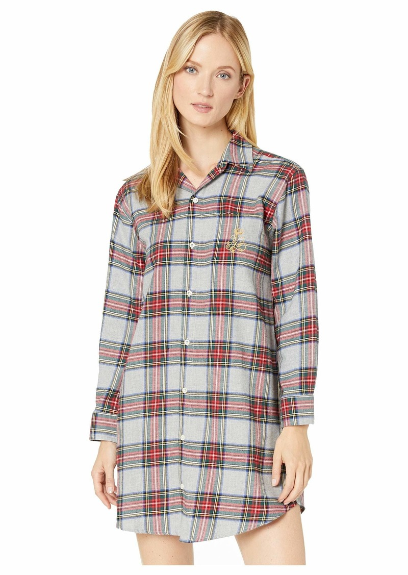 Ralph Lauren Brushed Twill Long Sleeve His Shirt Sleepshirt
