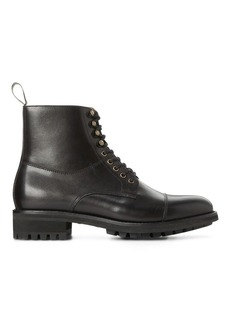 Ralph Lauren Bryson Cap-Toe Leather Boot