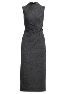 Ralph Lauren Buckled Mockneck Dress