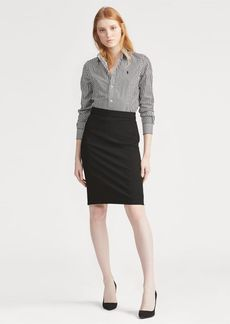 Ralph Lauren Buckled Wool Pencil Skirt