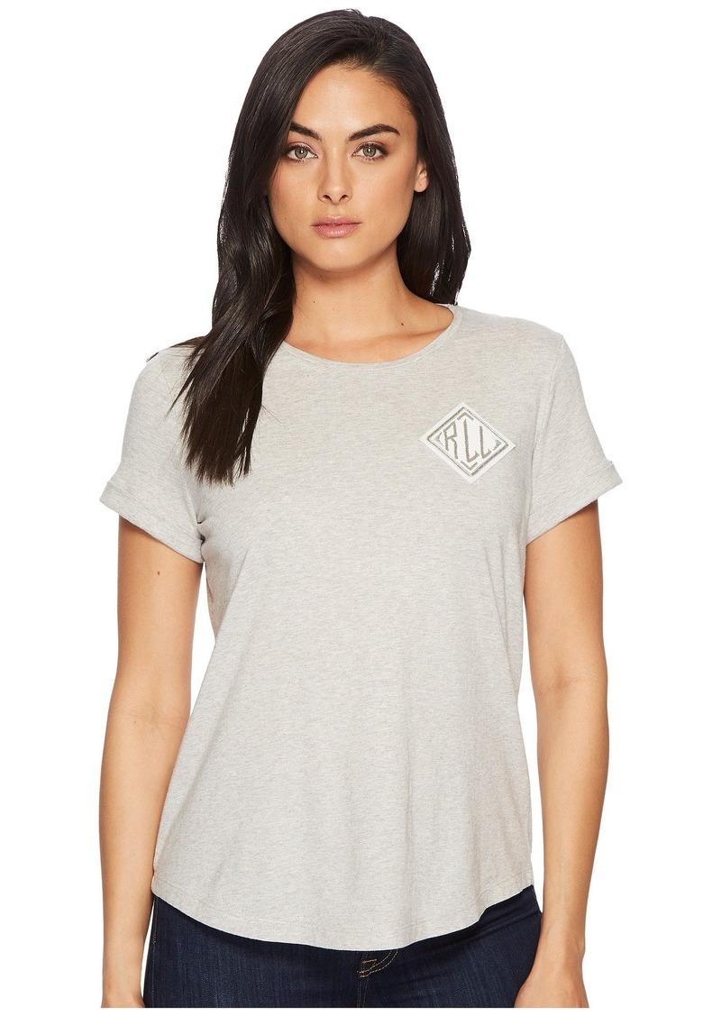 Ralph Lauren Bullion-Embroidered Jersey T-Shirt