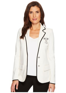 Ralph Lauren Bullion-Embroidered Knit Blazer