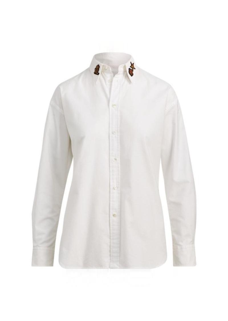 Ralph Lauren Bullion Oxford Boyfriend Shirt Dress Shirts