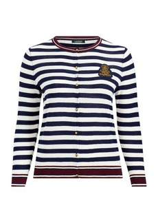 Ralph Lauren Bullion-Patch Cotton Cardigan