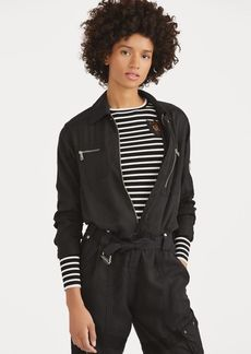 Ralph Lauren Bullion-Patch Striped Top