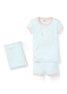 Ralph Lauren Bunny Cotton Pajama Short Set