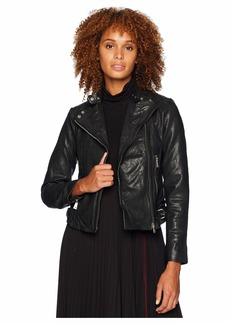 Ralph Lauren Burnished Leather Moto Jacket