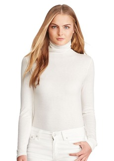 Ralph Lauren Button-Back Turtleneck