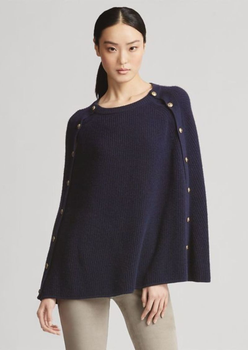 d8dce526572971 Ralph Lauren Button Cashmere Cape Sweater   Sweaters