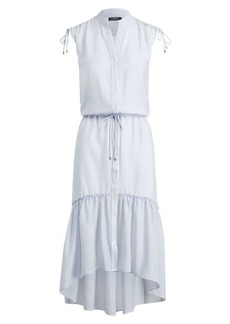 Ralph Lauren Button-Down Drawstring Dress