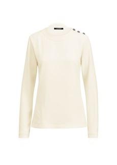 Ralph Lauren Button-Shoulder Knit Shirt