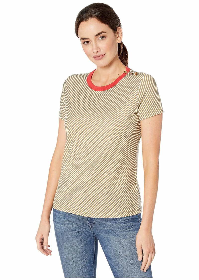 Ralph Lauren Button Shoulder Striped Tee