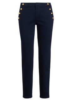 Ralph Lauren Button-Trim Chino Pant