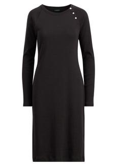 Ralph Lauren Button-Trim Cotton Dress