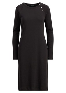 Ralph Lauren Button-Trim Cotton Dress