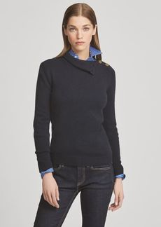 Ralph Lauren Buttoned Cashmere Turtleneck