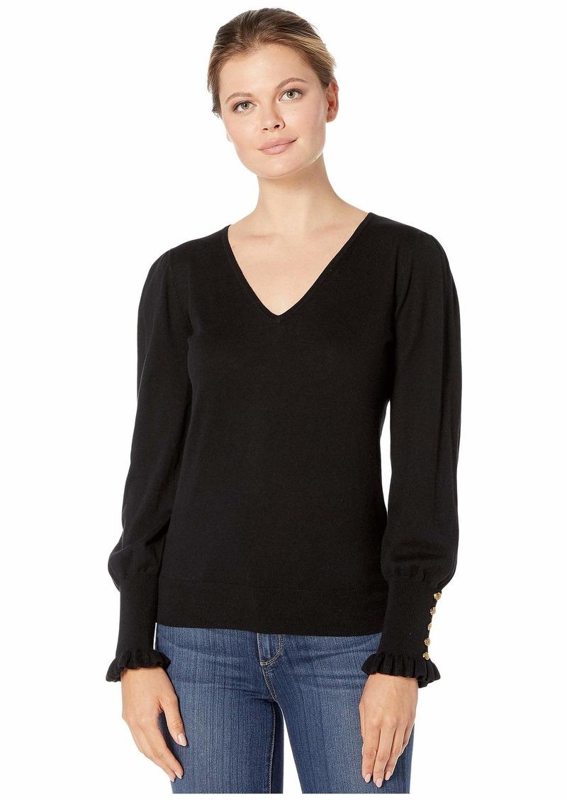 Ralph Lauren Buttoned Cuff Long Sleeve Sweater