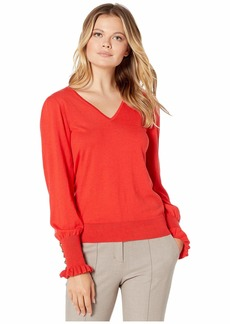 Ralph Lauren Buttoned Cuff Long Sleeve Sweater