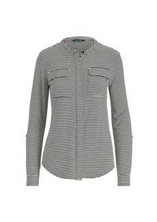Ralph Lauren Buttoned Jersey Top