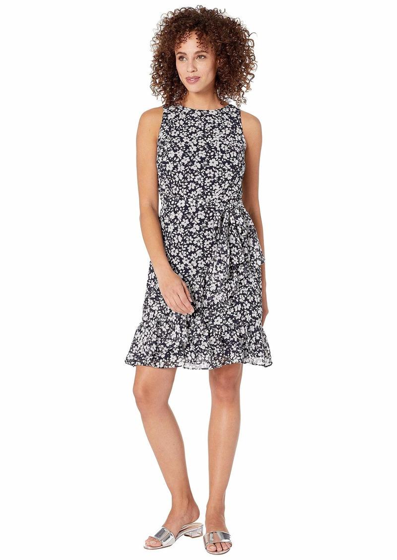 Ralph Lauren C110 Minden Floral Georgette Sabramay Sleeveless Day Dress