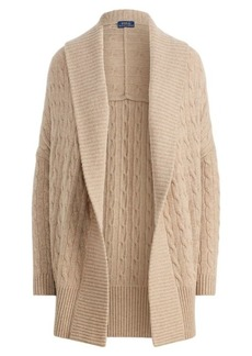 Ralph Lauren Cable Cashmere Shawl Cardigan