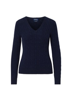 Ralph Lauren Cable Cashmere V-Neck Sweater