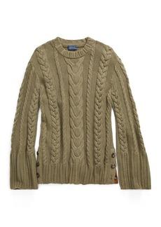 Ralph Lauren Cable Cotton Dolman Sweater