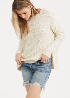 Ralph Lauren Cable Cotton-Linen Sweater