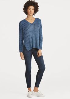 Ralph Lauren Cable Cotton V-Neck Sweater