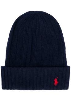 Ralph Lauren cable knit beanie hat