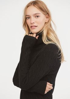 Ralph Lauren Cable-Knit Cashmere Turtleneck