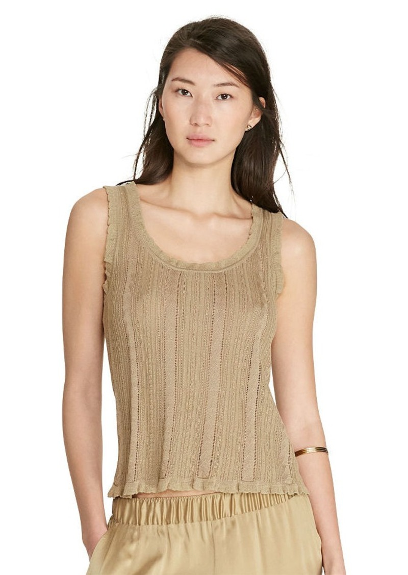 Ralph Lauren Cable-Knit Cotton-Blend Tank