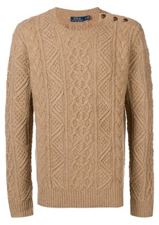 Ralph Lauren cable-knit fitted sweater