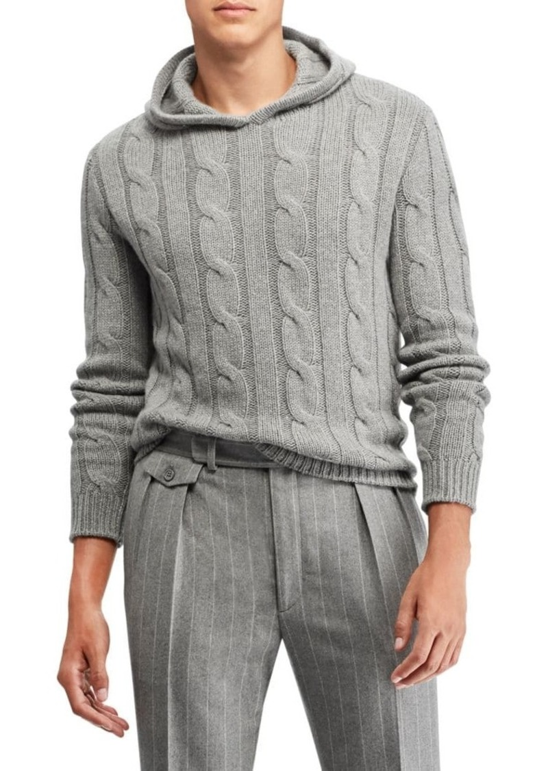 Ralph Lauren Cable Knit Hoodie Sweater Sweaters