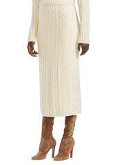 Ralph Lauren Cable Knit Midi-Skirt