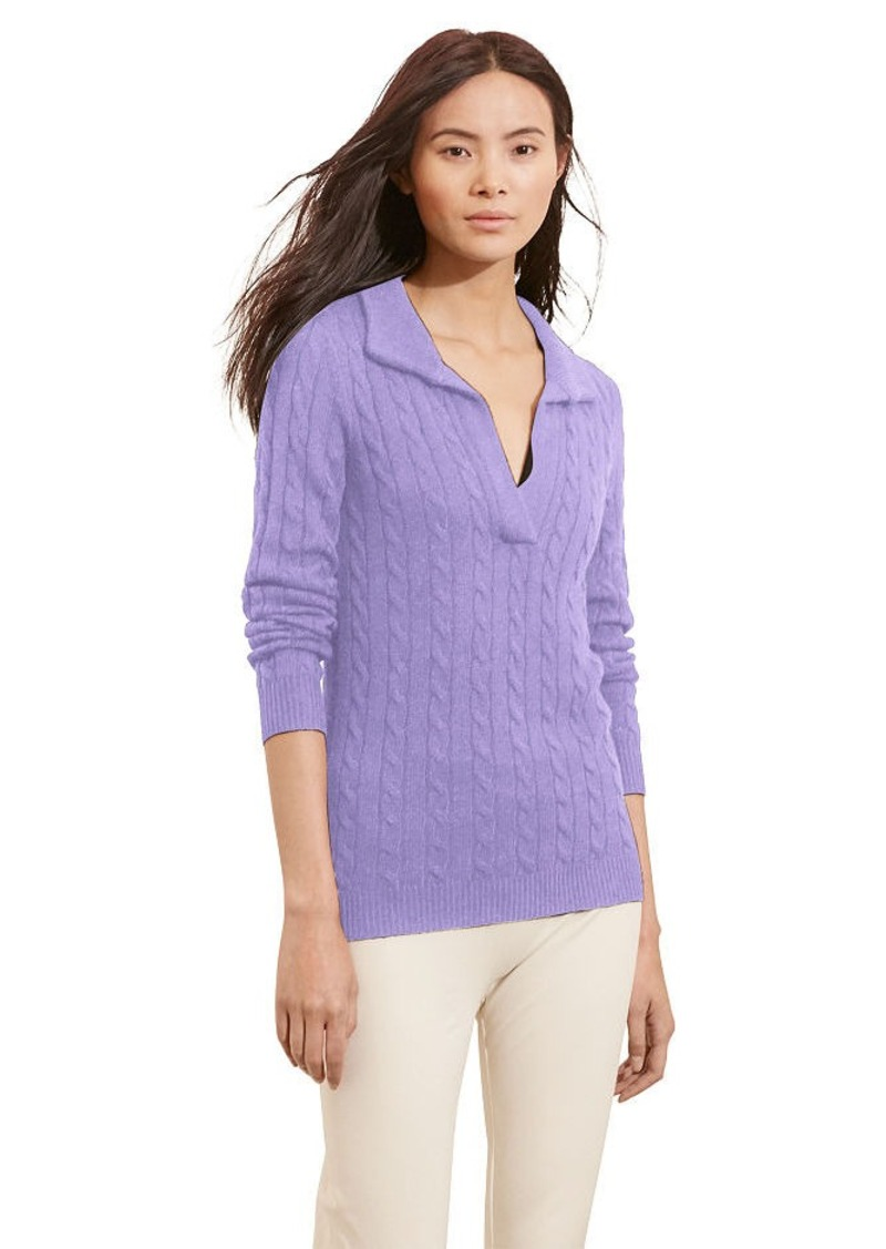 Ralph Lauren Cable-Knit Shawl Sweater