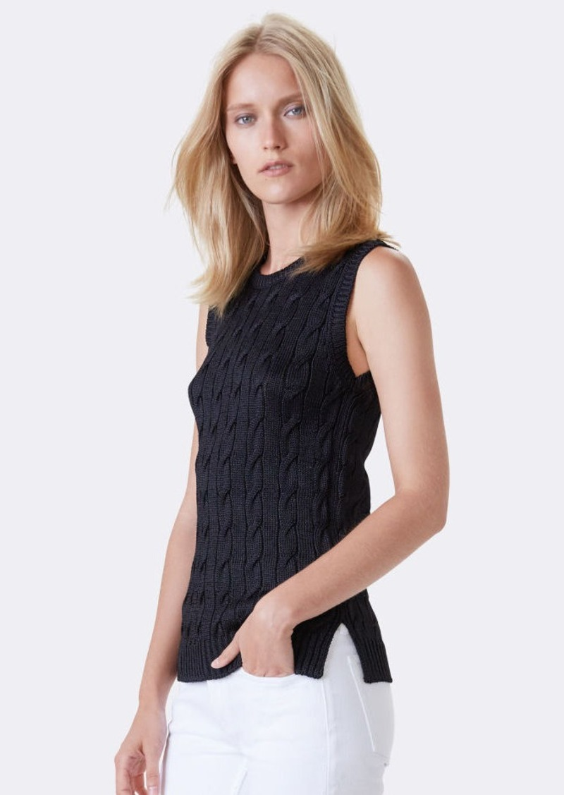 Ralph Lauren Cable-Knit Silk Sweater
