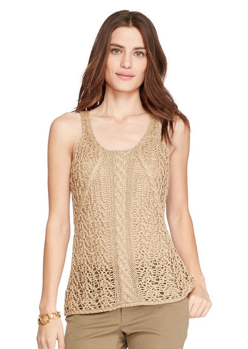 Ralph Lauren Cable-Knit Sleeveless Sweater