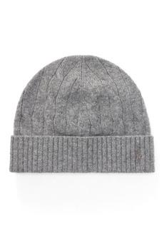 Ralph Lauren Cable-Knit Wool-Cashmere Hat