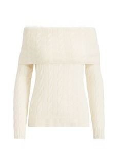 Ralph Lauren Cable Off-the-Shoulder Sweater