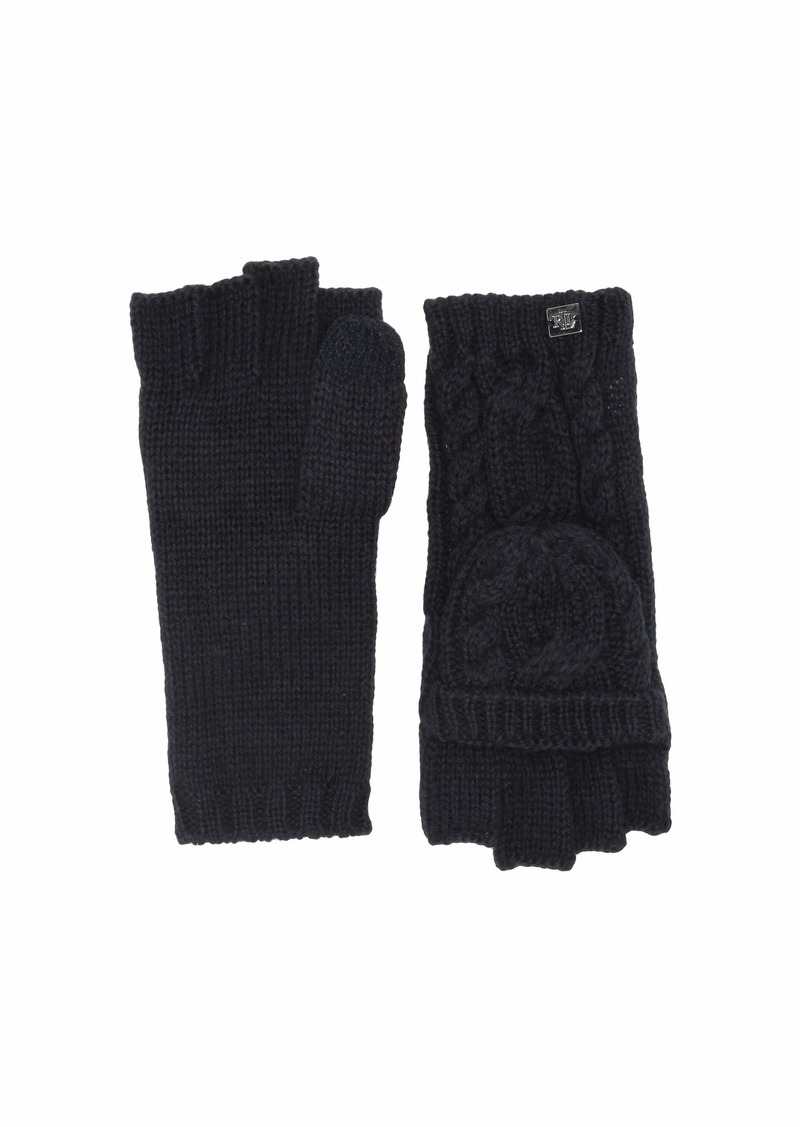 Ralph Lauren Cable Pop Top Touch Gloves
