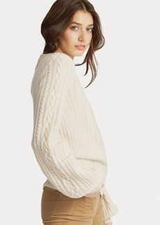 Ralph Lauren Cable Puff-Sleeve Sweater